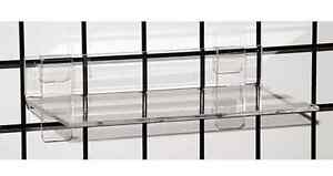 Gridwall Grid Acrylic Shoe Display Shelf 12 w X 6 d X 1 4 Thick Lot Of 25 New