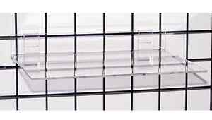 Gridwall Grid Acrylic Shoe Display Shelf 16 w X 12 d X 1 4 Thick Lot Of 10 New
