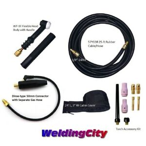 Miller Tig Welding Torch Set 9f Flex Head 125a 25 Air cool W gift Us Seller