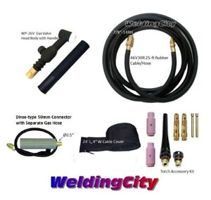 Miller Tig Welding Torch Set 26v 200a 25 Valve Head Air cool Us Seller