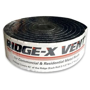 Ridge x Vent Lcf Vent Foam For Metal residential Roofing