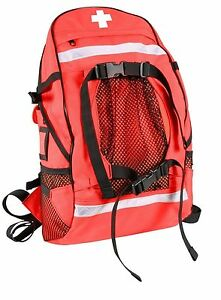 Ems Medic Trauma Backpack Gear Bag Red First Aid Ambulance Emergency Back Pack