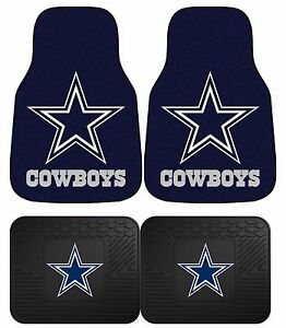 Dallas Cowboys Nfl Floor Mats 2 4 Pc Sets For Cars Trucks Suv s