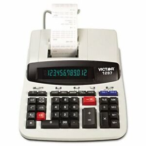 Victor 1297 Two color Printing Calculator 12 digit Lcd Black red vct1297