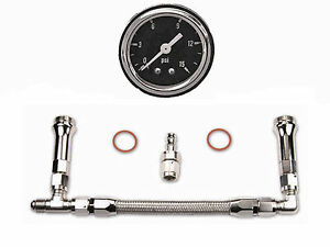 Quick Fuel 34 8000 Ss Kit Carburetor Dual Feed Fuel Line Black Gauge 34 8000 Ss