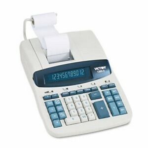 Two color Printing Calculator 12 digit Fluorescent Black red vct12603