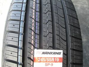 4 New 245 55r19 Inch Nankang Sp 9 Tires 245 55 19 R19 2455519 Treadwear 560