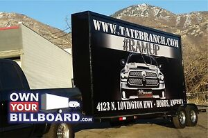 10x20 Billboard Trailer Back Lit With Free Banners Outdoor Advertising