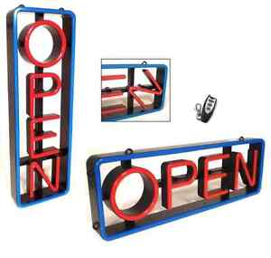 Lighted Led open Sign Rectangular With Swivel Letters Vertical Or Horizontal