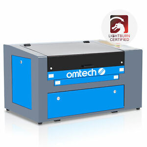 50w Engraving Cutting Co2 Laser Machine 300 500mm Engraver Cutter W Rotary Dark