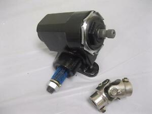 Ford T bucket Style Reversed Corvair Steering Box 20 1 Ratio W Stainless U Joint