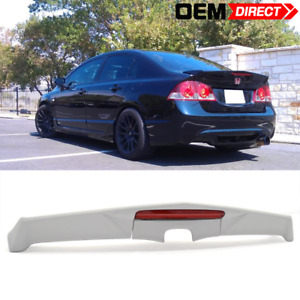 06 11 Honda Civic Modulo Trunk Spoiler With Led Frp