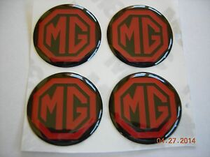 Mg Mgb Mga Midget Td Tc T Emblem Logo Sticker Decal Plastic Set Of Four 1 1 16