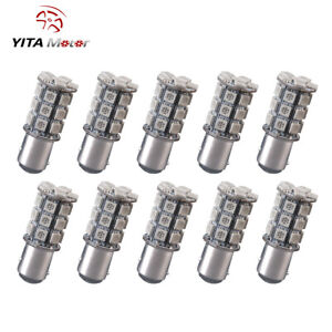 10x Amber Yellow 1157 27smd Led Turn Signal Blinker Parking Light Bulbs 7528 12v