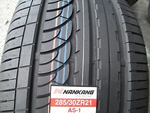 2 New 285 30zr21 Inch Nankang As 1 Tires 285 30 21 R21 2853021 30r