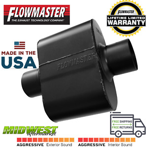 Flowmaster Super 10 Series Muffler Stainless Steel 2 5 Center In Center Out