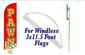 Pawn Windless Swooper Flag With Complete Kit