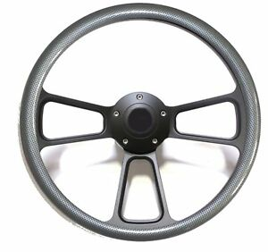 1970 1977 Ford F series Truck Steering Wheel Carbon Fiber Horn Full Kit