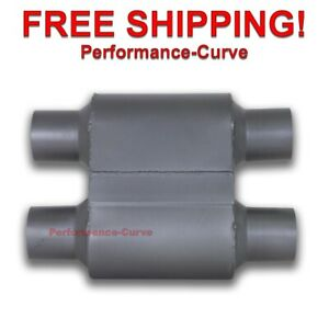 Single Chamber Race Muffler Exhaust Dual 2 5 Dual 2 5 One Chamber 1