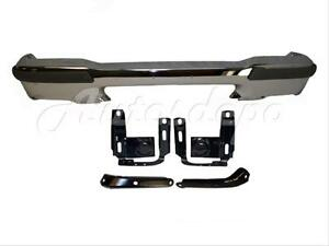For 1999 2000 Ford Ranger Front Bumper Chrome Pad Filler Reinforce Bracket 7pc