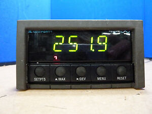 Newport Electronics Infct 511 Thermocouple Panel Meter controller 12h