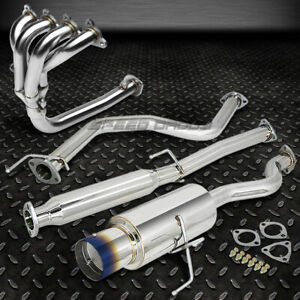 4 5 Burnt Tip Racing Catback 4 1 Header Manifold Exhaust For 92 00 Civic Ej Eh