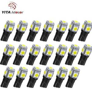 20pcs Super White T10 5smd 5050 Led Interior Light Bulb W5w 2825 158 168 192 194
