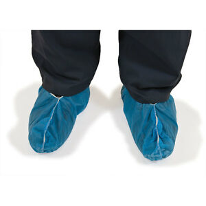 Disposable Shoe Covers Non skid Blue Large Size 1000 Pk