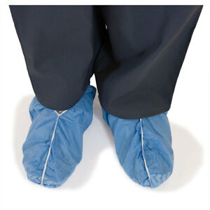 Disposable Shoe Covers Non skid Blue Standard Size 1000 Pk