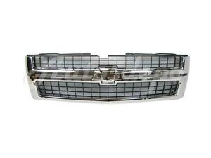 For 2007 2010 Silverado 2500hd 3500hd Grille Black Insert With Chrome Frame