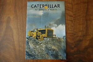 Caterpillar Magazine Issue 65 Dozer Crawler Tractor Vintage Antique Rare Number