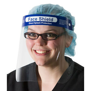 Full Face Splash Shield Elastic Strap Latex Free 96 Pk