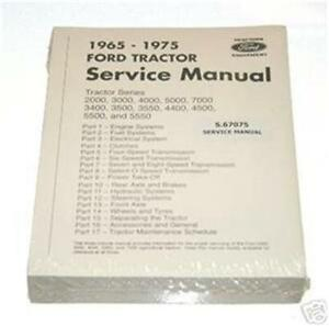 Ford 2000 3000 4000 5000 7000 Tractor Service Shop Manual Reproduction