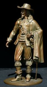 English Or French Bronze Statue Of A Man Probably King Of England Charles I