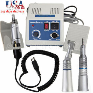 Dental Lab Marathon Electric Micromotor Contra Angle Straight Handpiece M iii
