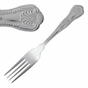 Olympia Kings Dessert Fork In Silver Made Of 18 0 Stainless Steel