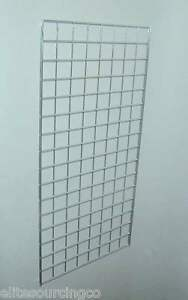 Grid Panel 24 X 48 1 4 Dia Wire 3 X 3 Squares Chrome Lot Of 3
