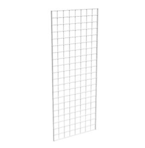 Grid Panel 24 X 60 1 4 Dia Wire 3 X 3 Squares White Lot Of 3