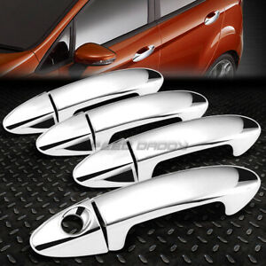 For 09 14 Ford Fiesta Chrome Plated Side 4 door Handle Cover No Passenger Key