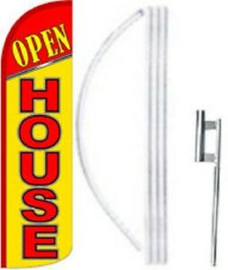 Open House Windless Swooper Flag With Complete Kit