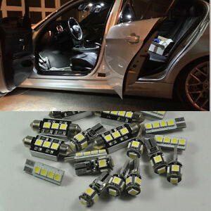 Error Free White 14 Light Led Interior For 06 11 Bmw 3 Series E90 328i 335i 4dr
