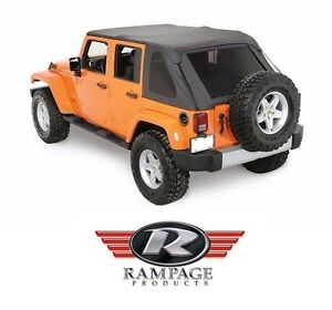 Rampage Frameless Trail Top W Tint 07 18 Jeep Wrangler Jk Unlimited 4 Dr 109835