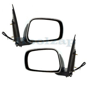Power Chrome Folding Mirror Left Right Side Set Pair For 05 14 Frontier Truck