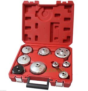 9pc Universal Forged Oil Filter Cap Wrench Set 4 Audi Ford Benz Bmw Mini Volvo