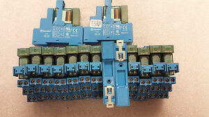 Qty 15 Finder Relays 40 52 W Base 95 05