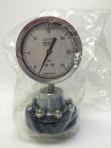 Ashcroft 3 1 2 Diaphragm Seal Gauge 35 1009 swl 02l