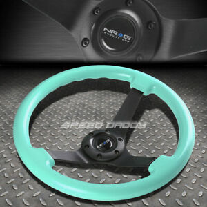 Nrg 350mm 3 Deep Dish 6 hole Minty Fresh Wood Grain Steering Wheel Black Center