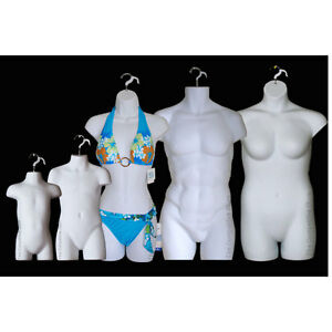 White Female Dress Male Child Toddler Plus Size Mannequin Display Body Forms