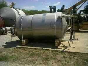 1 000 Gallon Stainless Steel Jacketed Kettle Tank W Sweep Type Mixer In Nj
