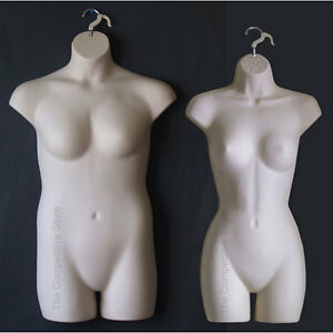 Fleshtone Female Dress Plus Size Mannequin Forms Display S m And 1x 2x Sizes